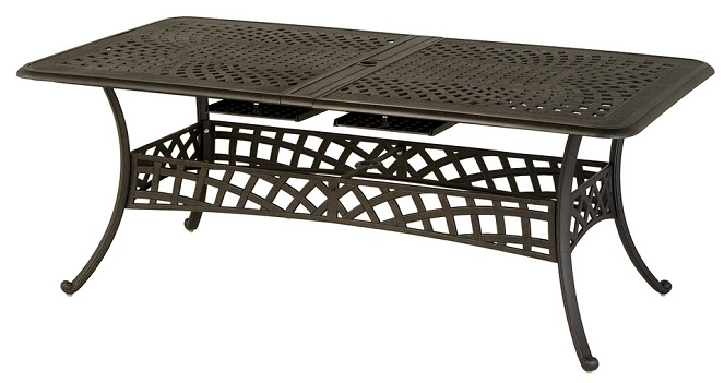 Berkshire By Hanamint Luxury Cast Aluminum Patio Furniture Rectangular  Extension Dining Table
