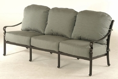 Berkshire By Hanamint Luxury Cast Aluminum Patio Furniture Sofa