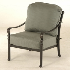 Berkshire By Hanamint Luxury Cast Aluminum Patio Furniture Stationary Club Chair