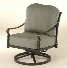 Berkshire By Hanamint Luxury Cast Aluminum Patio Furniture Swivel Club Chair