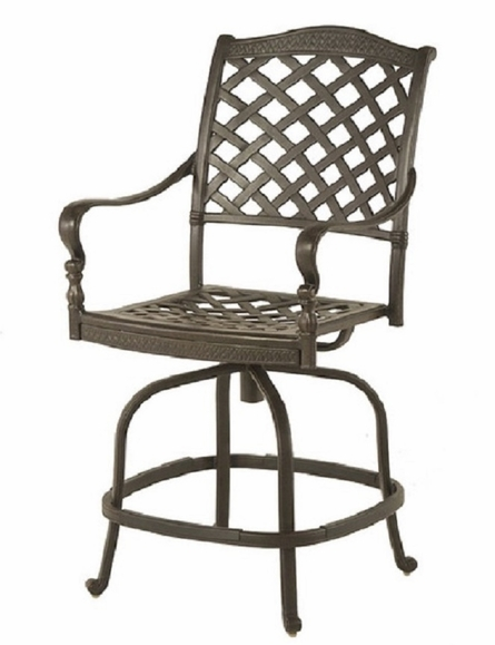 Berkshire By Hanamint Luxury Cast Aluminum Patio Furniture Swivel Counter Height Chair