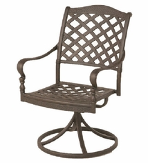 Berkshire By Hanamint Luxury Cast Aluminum Patio Furniture Swivel Dining Chair