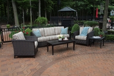 Cassini Collection All Weather Wicker Luxury Patio Furniture 5-Piece Deep Seating Set