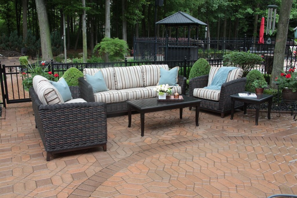 All weather wicker patio furniture ohana outdoor for All weather garden furniture