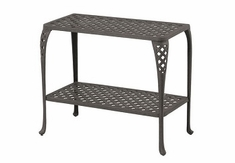 Newport By Hanamint Luxury Cast Aluminum Patio Furniture Console Table