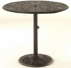 "Chateau By Hanamint Luxury Cast Aluminum 42"" Round Pedestal Counter Height Table"