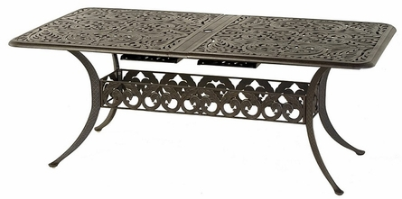 """Chateau By Hanamint Luxury Cast Aluminum 42"""" x 76"""" Rectangular Extension Dining Table"""