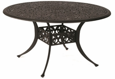 "Chateau By Hanamint Luxury Cast Aluminum 54"" Round Dining Table W/Inlaid Lazy Susan"