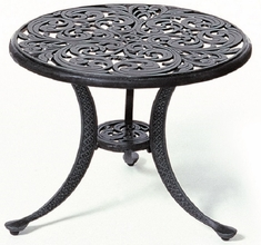 "Chateau By Hanamint Luxury Cast Aluminum Patio Furniture 21"" Round Tea Table"