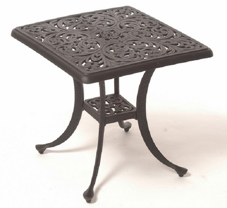 "Chateau By Hanamint Luxury Cast Aluminum Patio Furniture 24"" Square End Table"