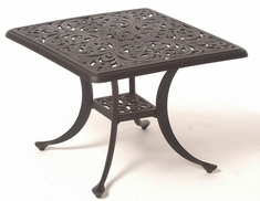 "Chateau By Hanamint Luxury Cast Aluminum Patio Furniture 24"" Square Tea Table"