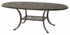 "Chateau By Hanamint Luxury Cast Aluminum Patio Furniture 28"" x 60"" Oval Coffee Table"