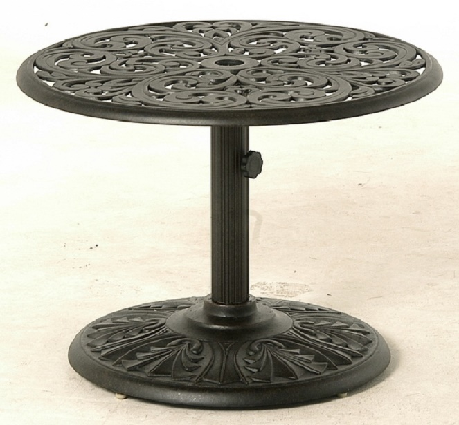 Cau By Hanamint Luxury Cast Aluminum Patio Furniture 30 Round. 36 X  Aluminum Patio Table With Umbrella Hole ...