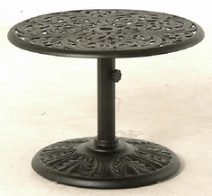 "Chateau By Hanamint Luxury Cast Aluminum Patio Furniture 30"" Round Side Umbrella Side Table"