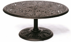 "Chateau By Hanamint Luxury Cast Aluminum Patio Furniture 42"" Round Umbrella Chat Table"