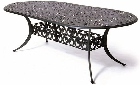 """Chateau By Hanamint Luxury Cast Aluminum Patio Furniture 42"""" x 84"""" Oval Dining Table"""