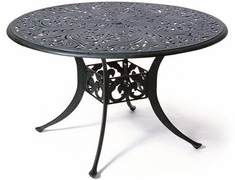 "Chateau By Hanamint Luxury Cast Aluminum Patio Furniture 48"" Round Dining Table"