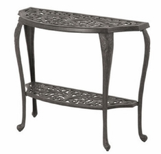 Chateau By Hanamint Luxury Cast Aluminum Patio Furniture Console Table