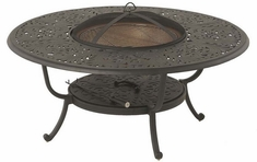 Chateau By Hanamint Luxury Cast Aluminum Patio Furniture Round Fire Pit Table