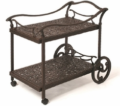Chateau By Hanamint Luxury Cast Aluminum Patio Furniture Tea Cart