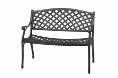 Columbia By Gensun Luxury Cast Aluminum Patio Furniture Bench