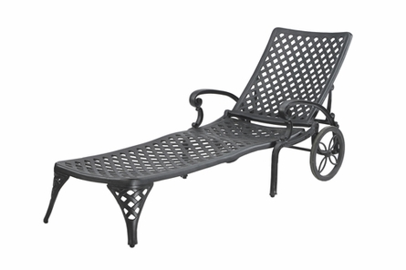 Columbia By Gensun Luxury Cast Aluminum Patio Furniture Chaise Lounge