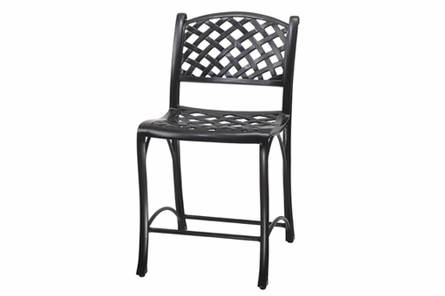 Columbia By Gensun Luxury Cast Aluminum Patio Furniture Stationary Balcony Chair