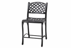 Columbia By Gensun Luxury Cast Aluminum Patio Furniture Stationary Bar Chair