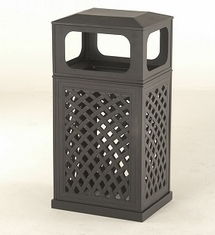 Newport By Hanamint Luxury Cast Aluminum Patio Furniture Trash Receptacle