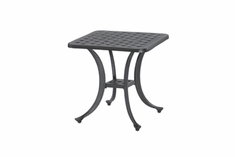 "Coordinate By Gensun Luxury Cast Aluminum Patio Furniture 21"" Square End Table"