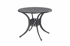 "Coordinate By Gensun Luxury Cast Aluminum Patio Furniture 32"" Round Dining Table"