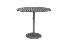 "Coordinate By Gensun Luxury Cast Aluminum Patio Furniture 36"" Round Pedestal Balcony Table"