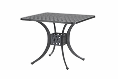 "Coordinate By Gensun Luxury Cast Aluminum Patio Furniture 36"" Square Dining Table"