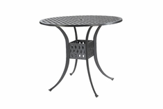 "Coordinate By Gensun Luxury Cast Aluminum Patio Furniture 42"" Round Bar Height Table"