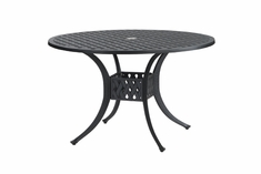 "Coordinate By Gensun Luxury Cast Aluminum Patio Furniture 42"" Round Dining Table"