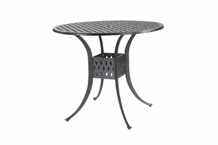 "Coordinate By Gensun Luxury Cast Aluminum Patio Furniture 48"" Round Bar Height Table"