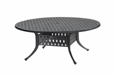 "Coordinate By Gensun Luxury Cast Aluminum Patio Furniture 54"" Round Chat Table"