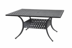 "Coordinate By Gensun Luxury Cast Aluminum Patio Furniture 60"" Square Dining Table"