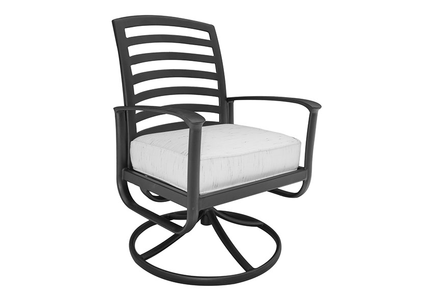 Edgewood By Alu Mont Luxury Cast Aluminum Patio Furniture Swivel Dining  Chair