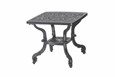 "Florence By Gensun Luxury Cast Aluminum Patio Furniture 21"" Square End Table"