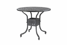 """Florence By Gensun Luxury Cast Aluminum Patio Furniture 48"""" Round Bar Height Table"""