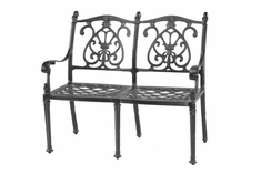 Florence By Gensun Luxury Cast Aluminum Patio Furniture Bench