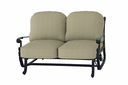 Florence By Gensun Luxury Cast Aluminum Patio Furniture Loveseat Glider