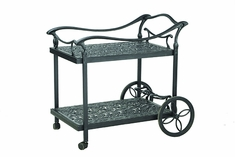 Florence By Gensun Luxury Cast Aluminum Patio Furniture Serving Cart