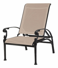 Florence By Gensun Luxury Cast Aluminum Patio Furniture Sling Reclining Chair
