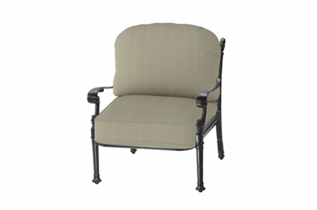 Florence By Gensun Luxury Cast Aluminum Patio Furniture Stationary Club Chair