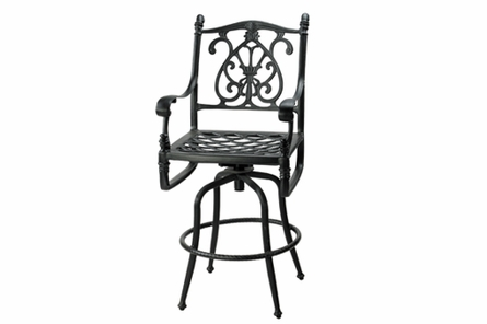Florence By Gensun Luxury Cast Aluminum Patio Furniture Swivel Balcony Chair