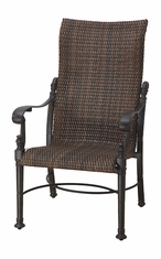 Florence By Gensun Luxury Wicker Patio Furniture High Back Dining Chair