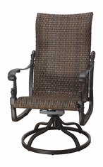 Florence By Gensun Luxury Wicker Patio Furniture High Back Swivel Rocker