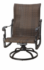 Florence By Gensun Luxury Wicker Patio Furniture High Back Swivel Rocking Lounge Chair